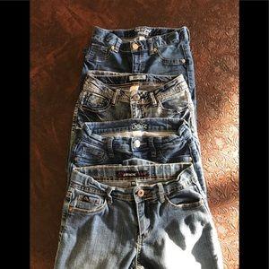 bundle of 4 jeans mudd,cat&jack,justice,jordache